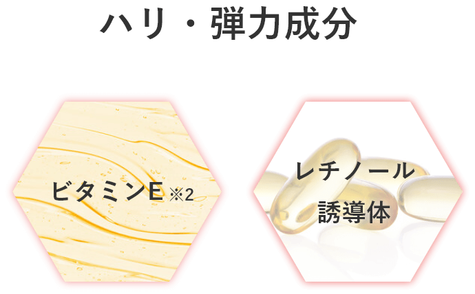 ハリ・弾力成分 ビタミンE レチノール誘導体